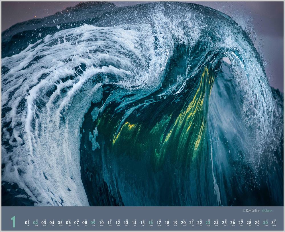 Monatsbild für Januar des Kalender Waves 2022