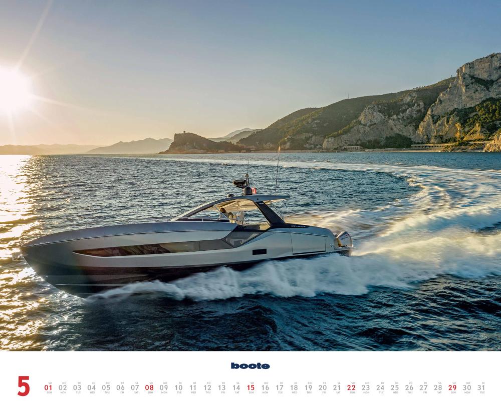 Vorschau für den fünften Monat Mai im boote Kalender für 2022