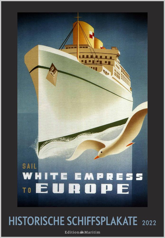 Titelbild des Historische Schiffsplakate 2022 Kalender
