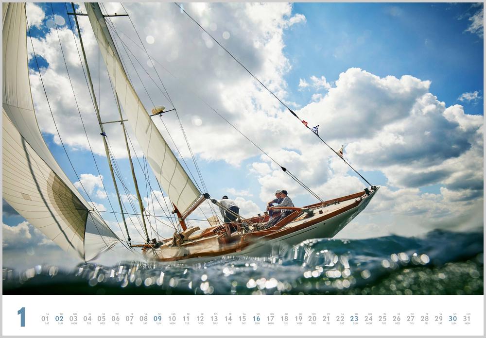 Monatsbild für Januar des Kalender Yacht Classic 2022