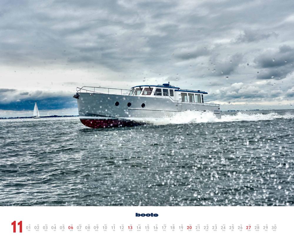 Novembervorschau für den elften Monat im boote Kalender für 2022