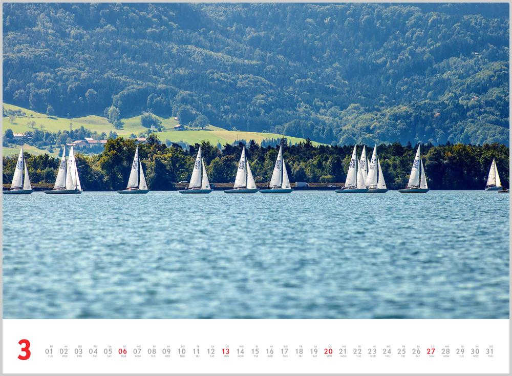 Dritter Monat in 2022, März, des Schönheit des Segelns Kalender