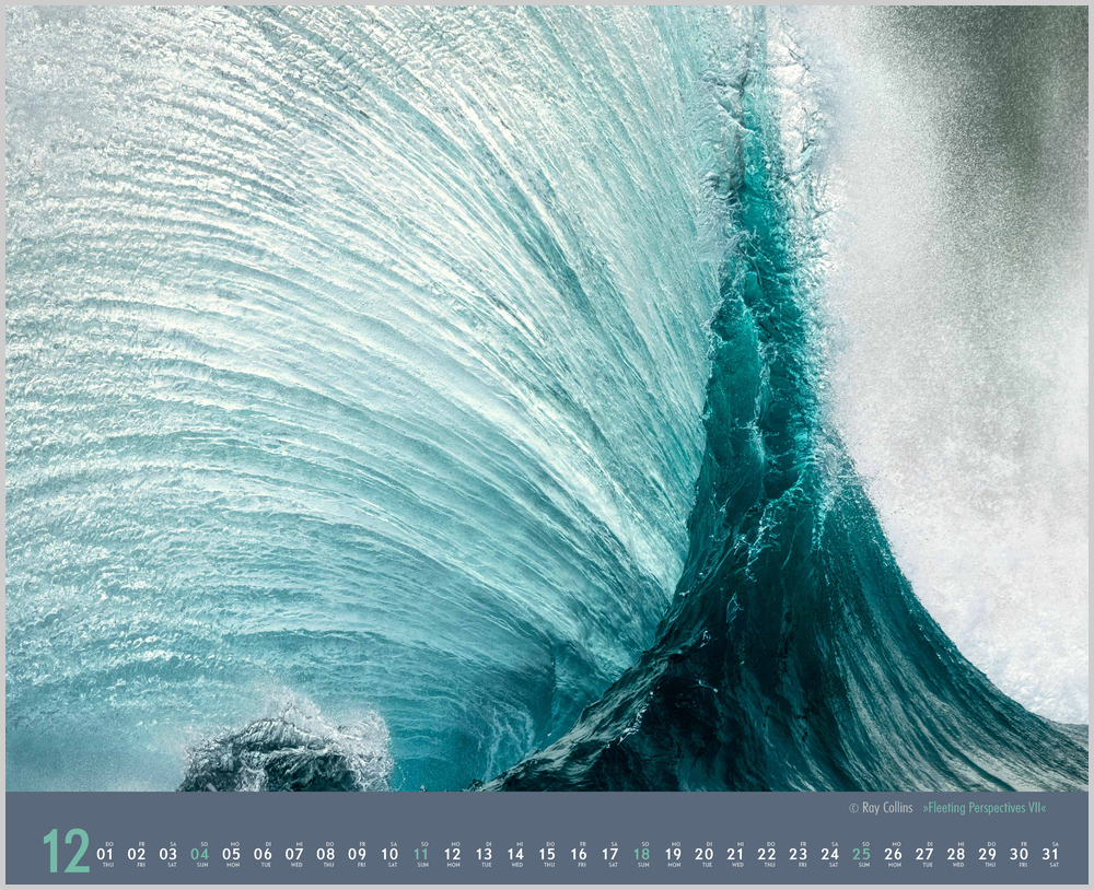 Vorschaubild für den letzten Monat Dezember im Waves Kalender für 2022