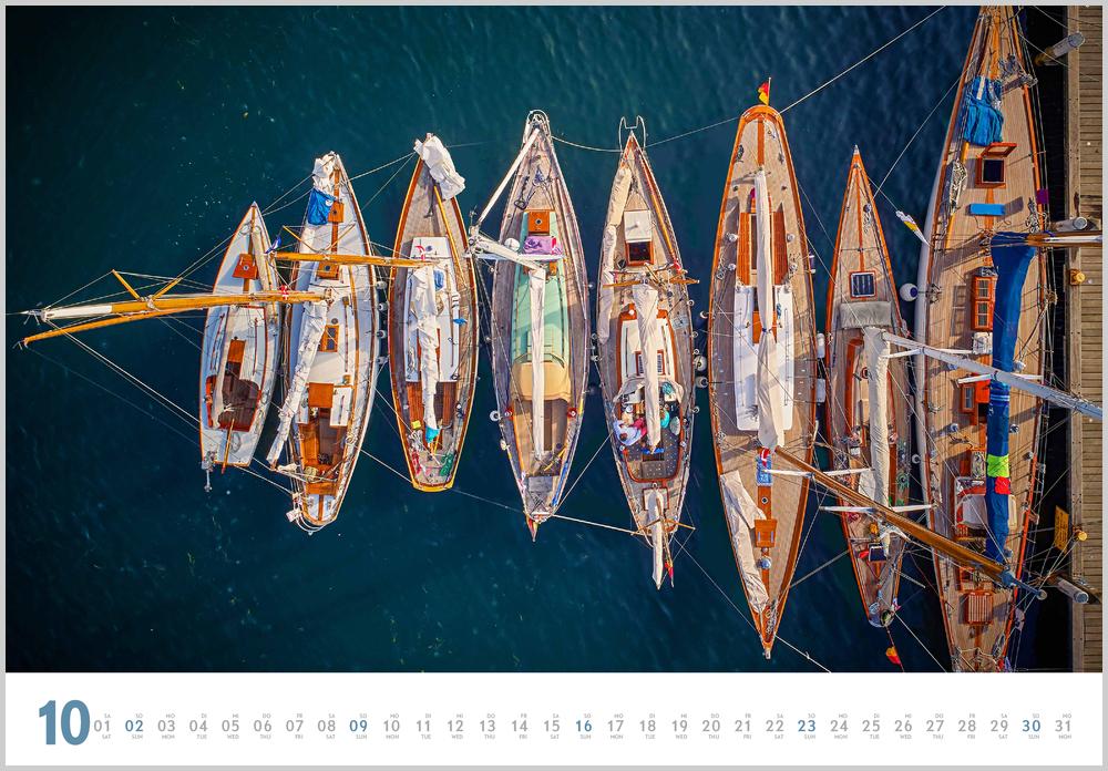 Monatsbild für Oktober des Yacht Classic 2022 Kalender