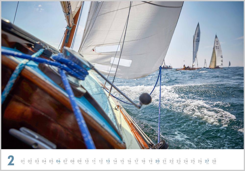 Februarvorschau für den zweiten Monat im Yacht Classic Kalender für 2022