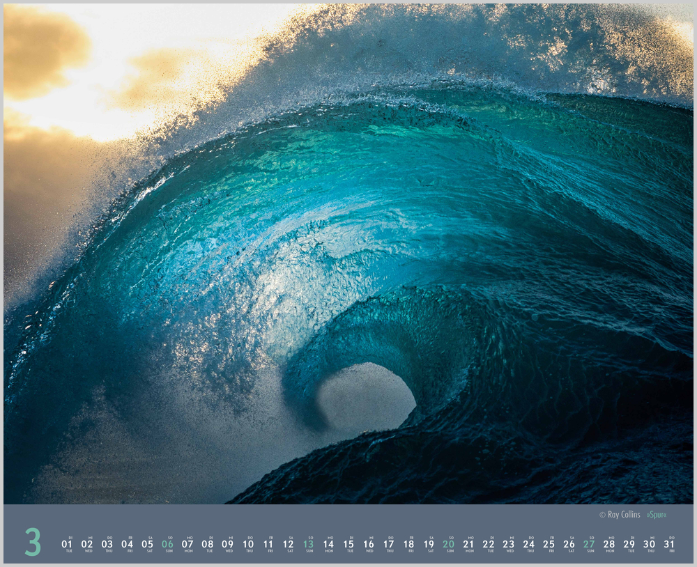 Dritter Monat in 2022, März, des Waves Kalender