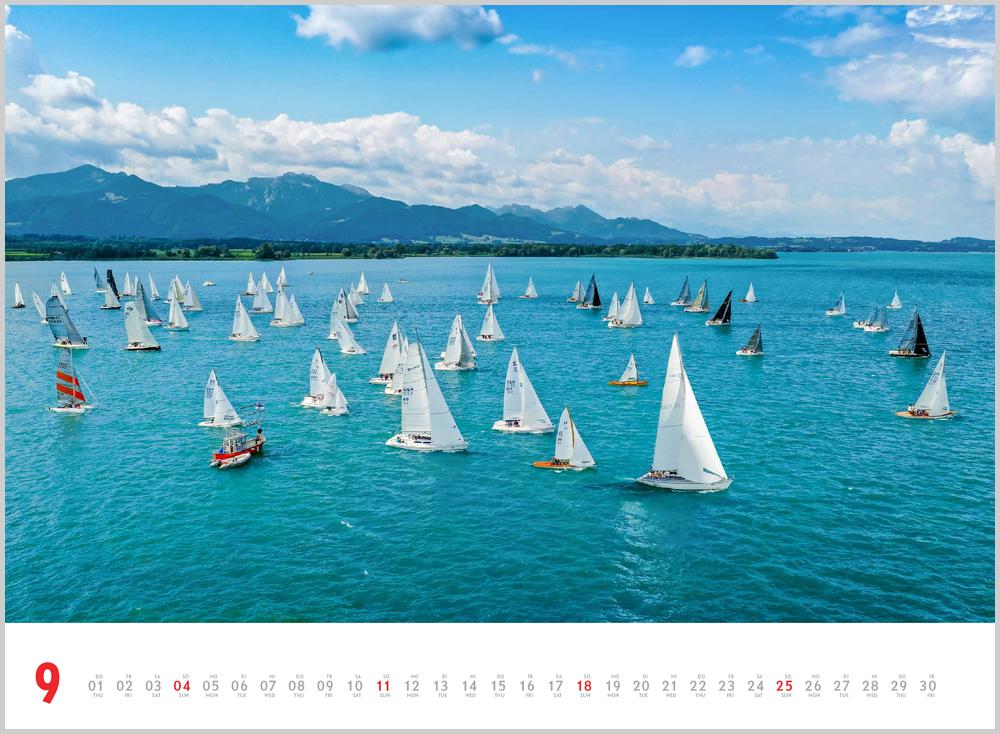 Septemberbild des Schönheit des Segelns Kalender für 2022