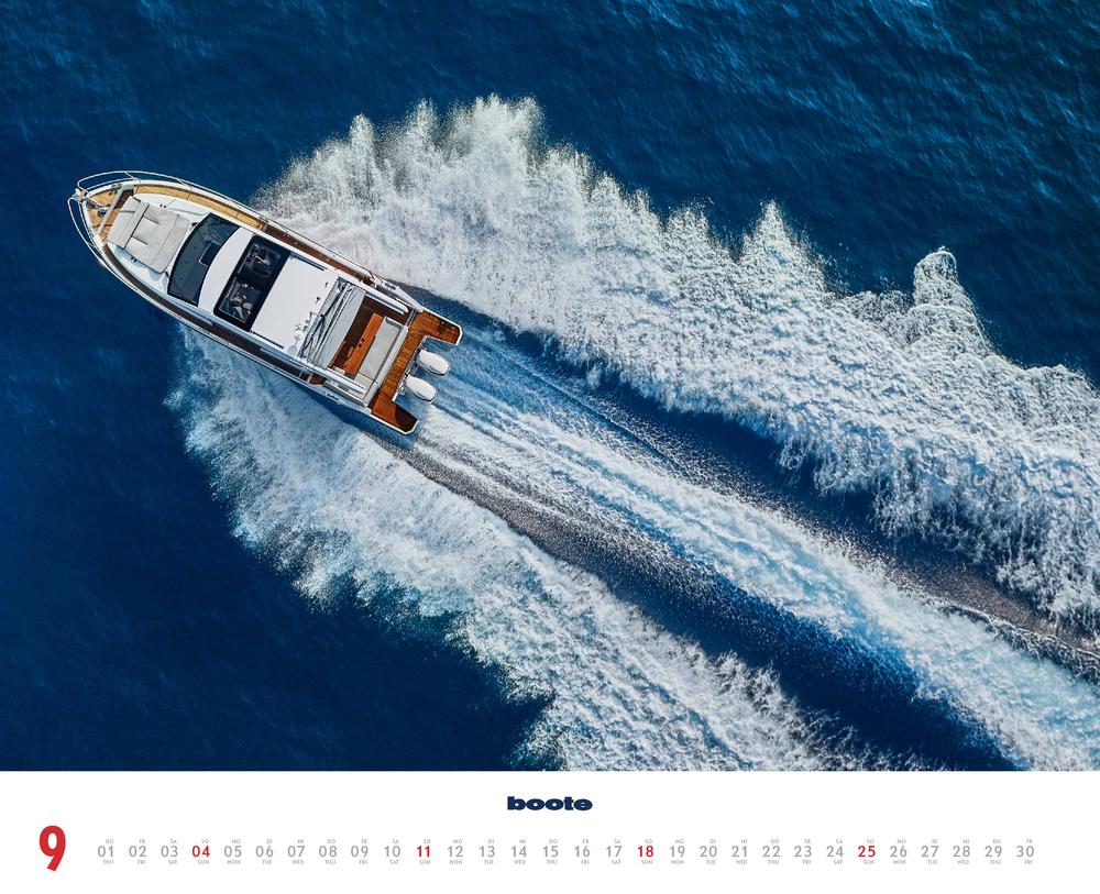 Septemberbild des boote Kalender für 2022