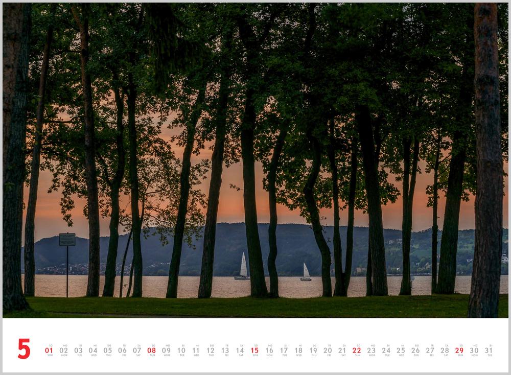 Vorschau für den fünften Monat Mai im Schönheit des Segelns Kalender für 2022