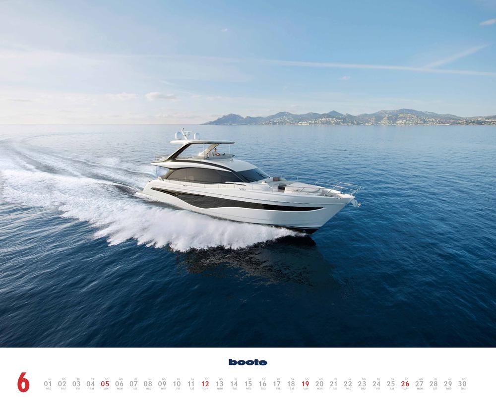 Im Juni zeigt der boote Kalender für 2022 dieses Bild