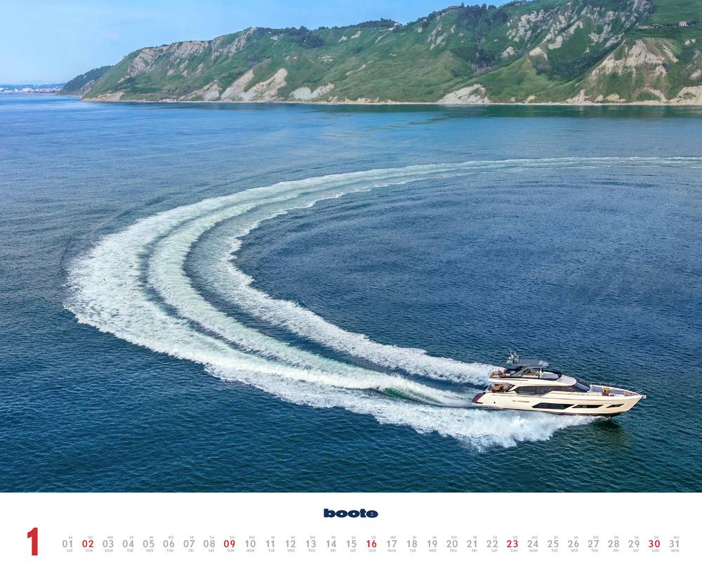 Monatsbild für Januar des Kalender boote 2022