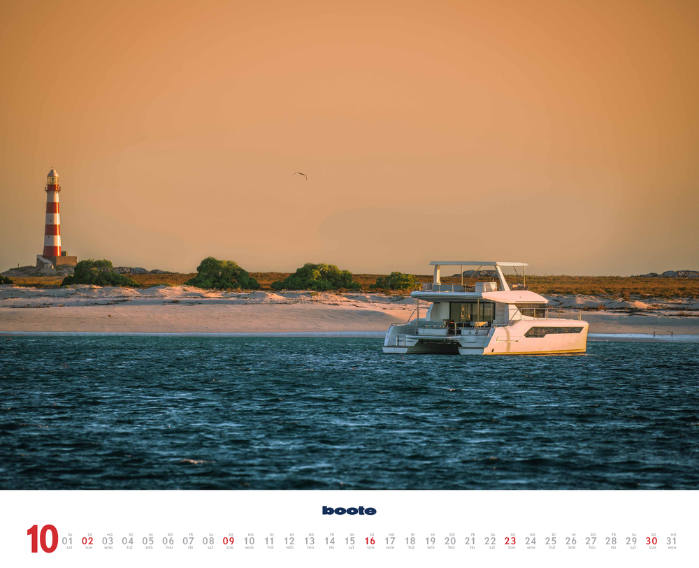 Monatsbild für Oktober des boote 2022 Kalender