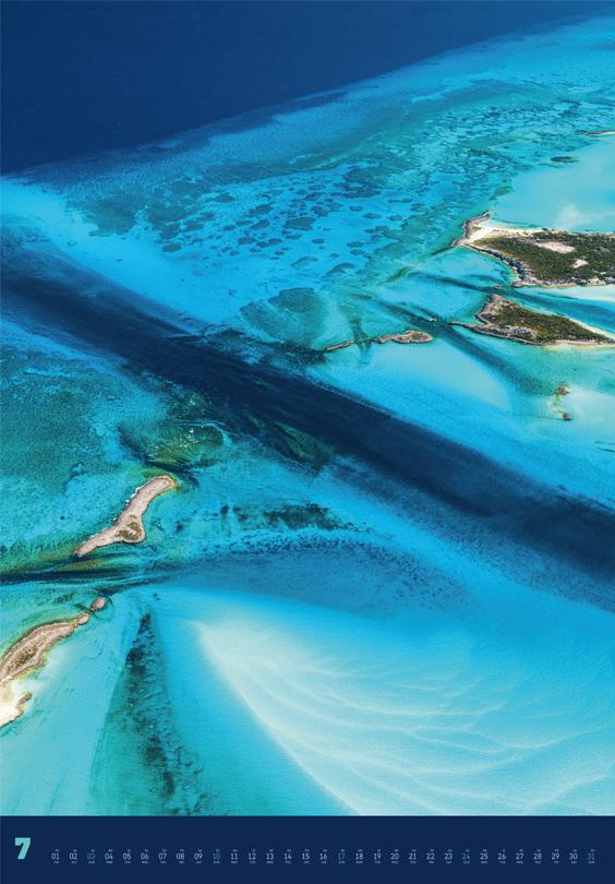 Monatsbild für Juli des Land + Meer von oben 2022