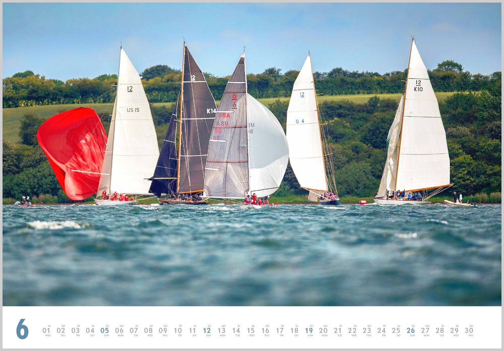 Im Juni zeigt der Yacht Classic Kalender für 2022 dieses Bild