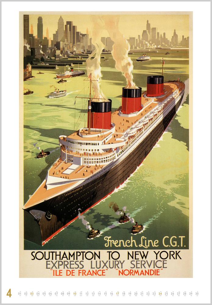 Monatsbild für April des Historische Schiffsplakate 2022
