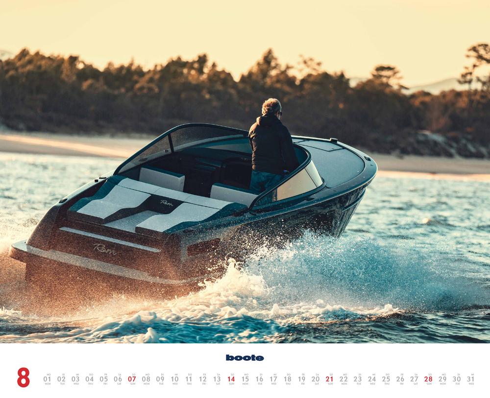 Augustvorschau für den achten Monat im boote Kalender für 2022