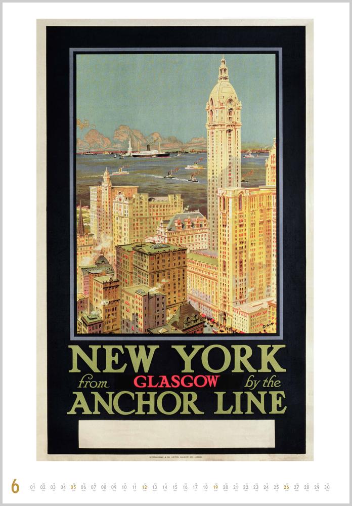 Im Juni zeigt der Historische Schiffsplakate Kalender für 2022 dieses Bild