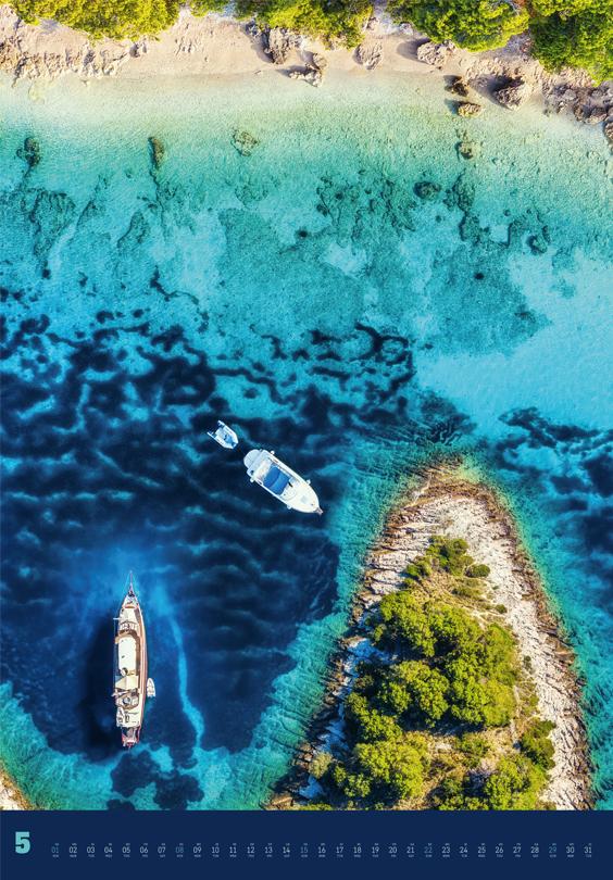 Vorschau für den fünften Monat Mai im Land + Meer von oben Kalender für 2022
