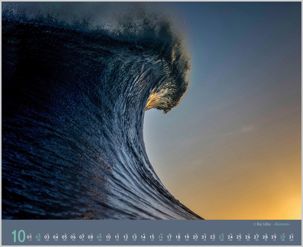 Monatsbild für Oktober des Waves 2022 Kalender