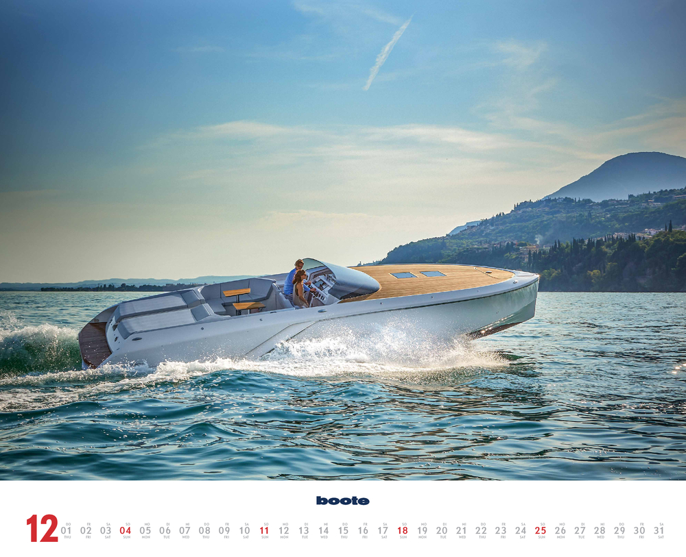 Vorschaubild für den letzten Monat Dezember im boote Kalender für 2022