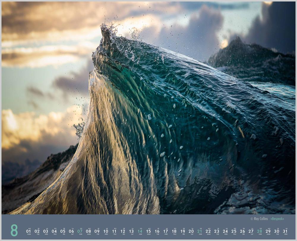 Augustvorschau für den achten Monat im Waves Kalender für 2022