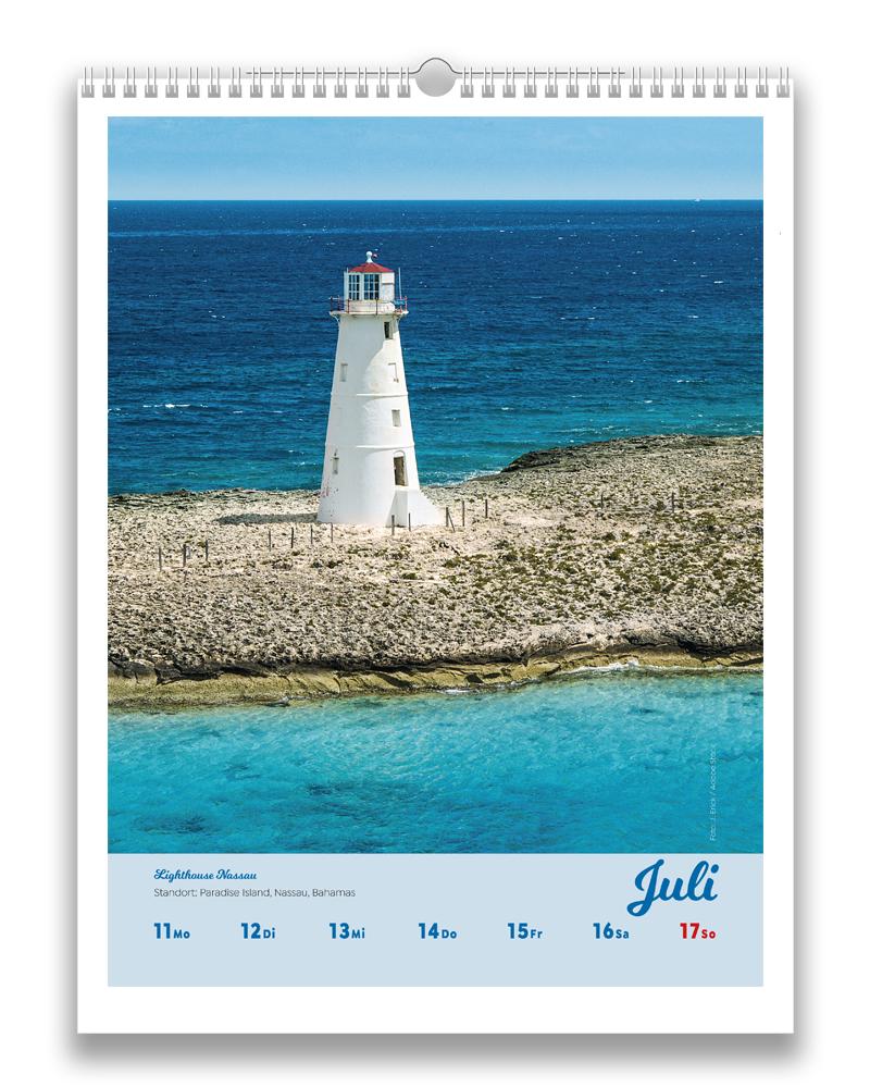 Wochenbild aus dem Juli des Kalender Leuchttürme der Welt 2022