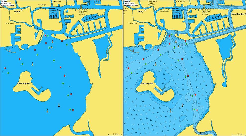 Detail des Heegermeer in der neuen Navionics Seekarten Datenbank