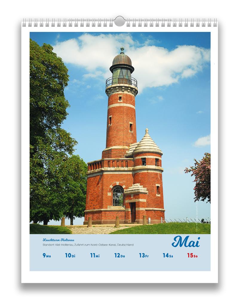 Vorschau einer Woche im fünften Monat Mai im Leuchttürme der Welt Kalender für 2022