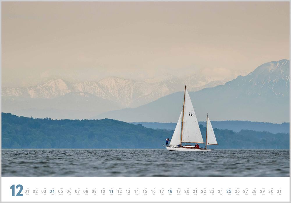 Vorschaubild für den letzten Monat Dezember im Yacht Classic Kalender für 2022