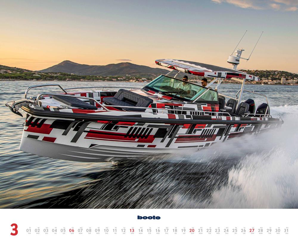 Dritter Monat in 2022, März, des boote Kalender
