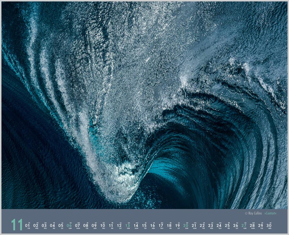 Novembervorschau für den elften Monat im Waves Kalender für 2022