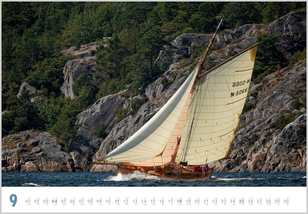 Septemberbild des Yacht Classic Kalender für 2022