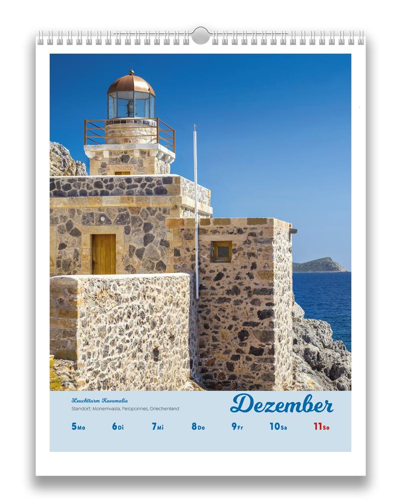 Vorschaubild einer Woche im letzten Monat Dezember des Leuchttürme der Welt Kalender für 2022