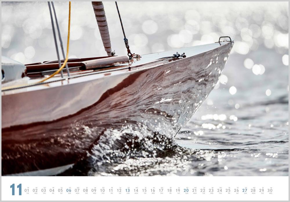 Novembervorschau für den elften Monat im Yacht Classic Kalender für 2022
