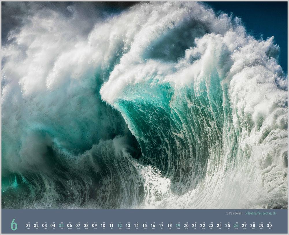 Im Juni zeigt der Waves Kalender für 2022 dieses Bild