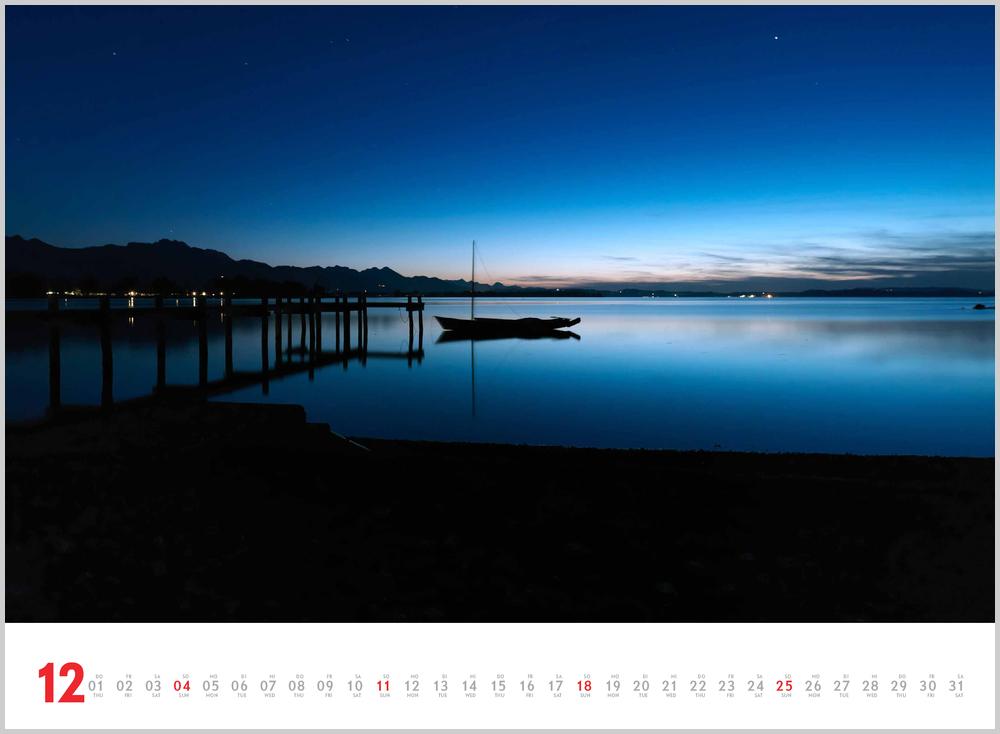 Vorschaubild für den letzten Monat Dezember im Schönheit des Segelns Kalender für 2022